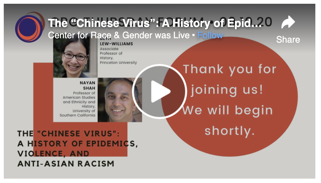 A HISTORY OF EPIDEMICS, VIOLENCE, AND ANTI-ASIAN RACISM